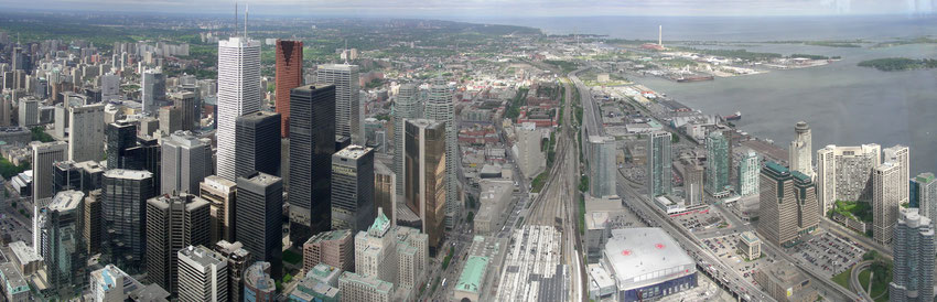 North-East View from CN Tower Toronto