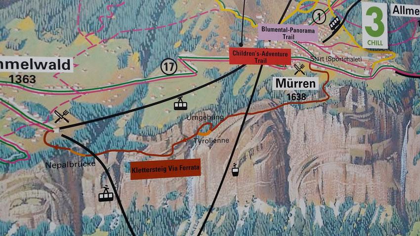 Klettersteig Map : Klettersteig mürren gimmelwald mountain report