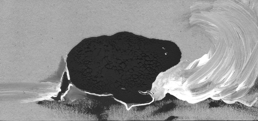Zeichnung KRÖTE, Mischtechnik, Thomas Autering