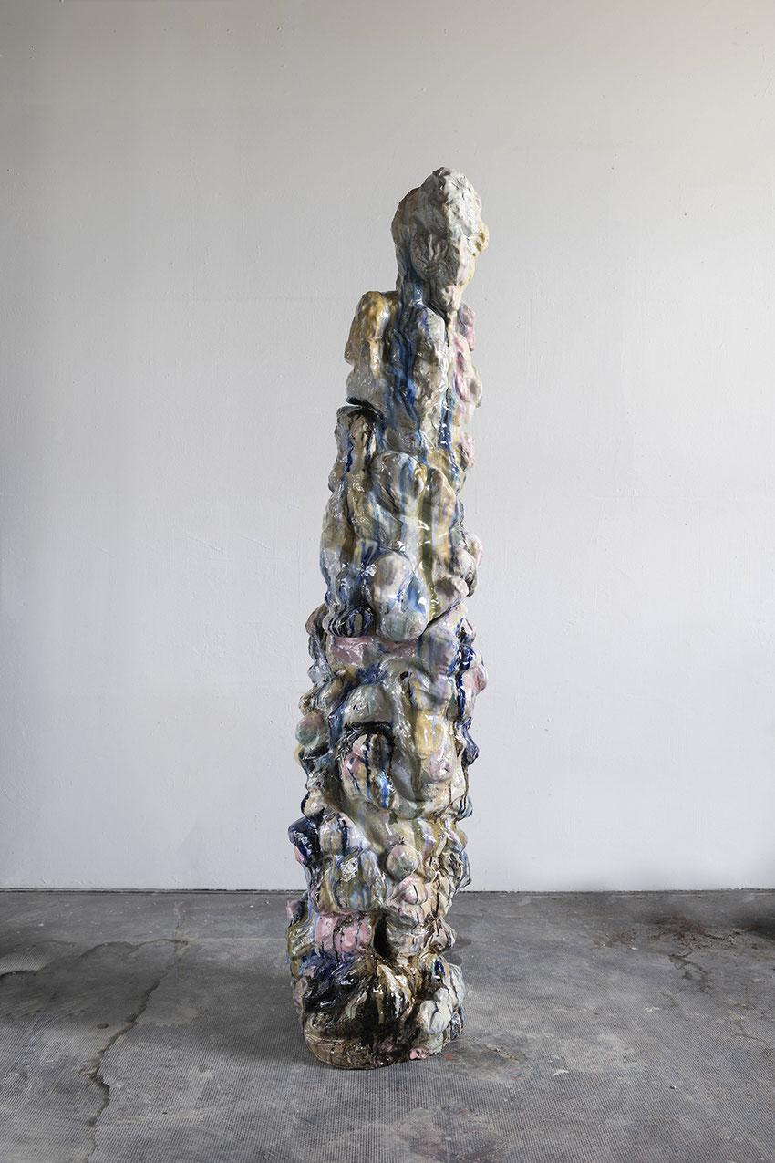 Rise, 2021, ceramics, glazes 104 x 44cm