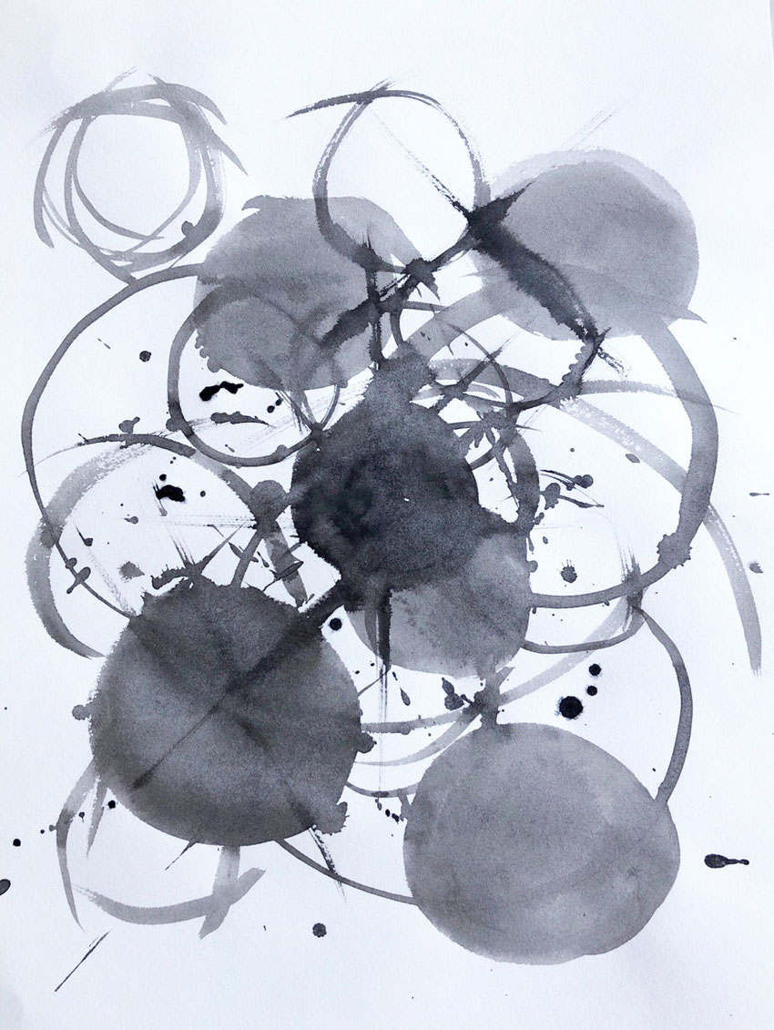 """Incarnation"" by Azumi Uchitani, Sumi Ink on paper.  Japanese Calligraphy, Intuitive Art"