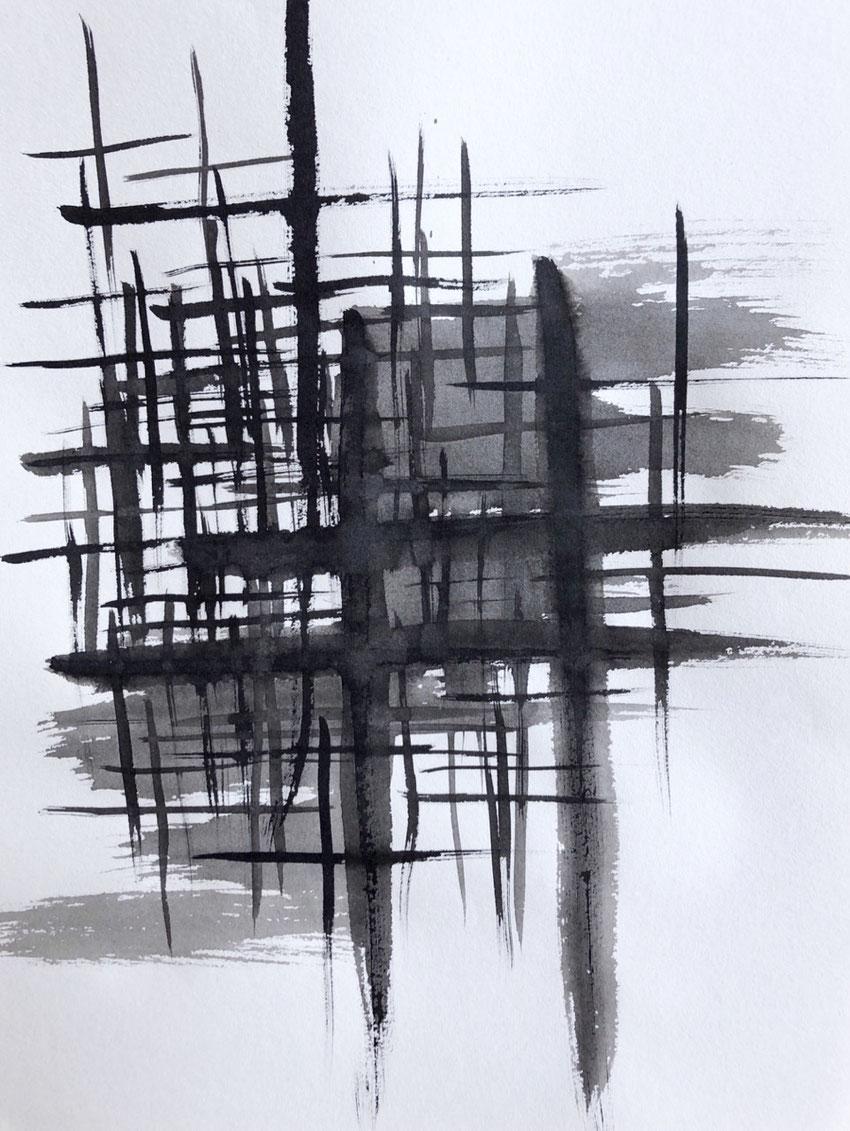Japanese Calligraphy, Intuitive Art, Azumi Uchitani