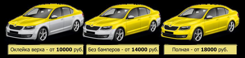 стоимость виниловая оклейки автомобиля под такси