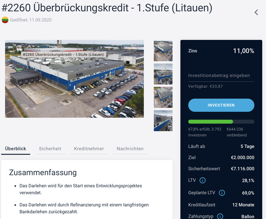 P2P-Kredite: Immobilienkredit bei Estateguru