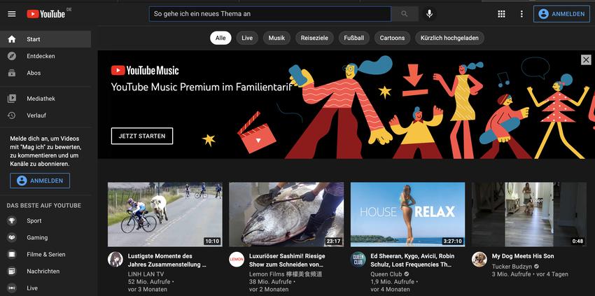 YouTube als Suchmaschine