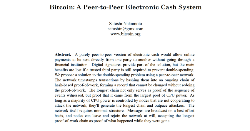 "Das Bitcoin-Whitepaper - ""Bitcoin: A Peer-to-Peer Electronic Cash System"""