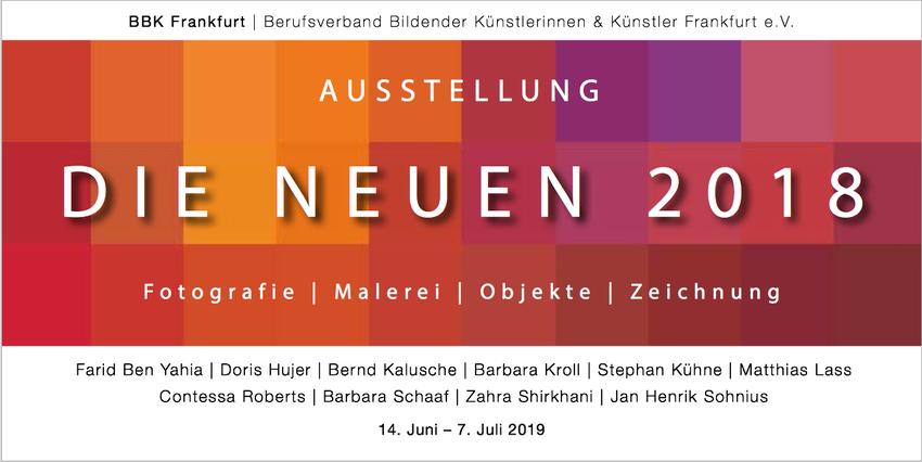 """Ausstellung DIE NEUEN 2018   I   Am 14. 06. 2019 findet die Vernissage zur Ausstellung der neu aufgenommenen Mitglieder des BBK Frankfurt statt. Hier zeige ich einige Malereien aus der Reihe """"Bildsprache""""."""