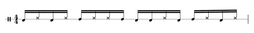 Cajon Rhythmus Sechzehntelnoten