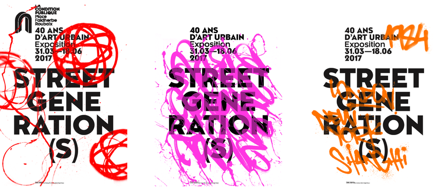 affiche street art genreation 31 mars au 18 juin 2017