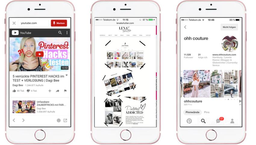 Influencer nutzen Pinterest ebenfalls als Inspirationsquelle und zudem als Distributionskanal