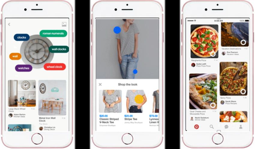 Pinterest Lens, Shop the Look und Instant Ideas - mit diesen drei neuen Features entwickelt Pinterest Visual Discovery deutlich weiter