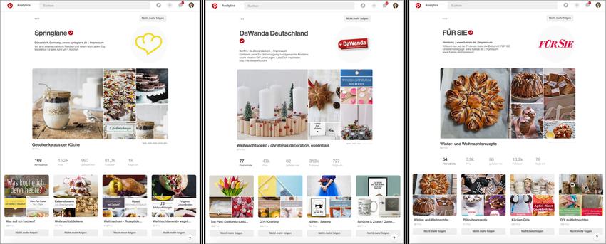 """Seit dem Start der neuen Pinterest Business Profil Ansicht """"Showcase"""" wird diese bereits von vielen Marken und Publishern genutzt."""