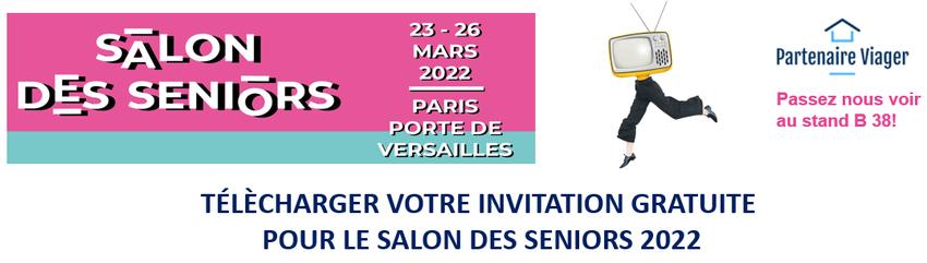 Télécharger votre invitation gratuite pour le salon des seniors 2021 à Paris