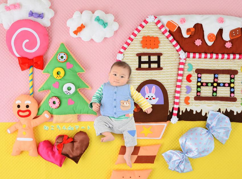 ねころんdeアート 寝相アート イオン 春 イベント 赤ちゃん ピクニック おしゃピク