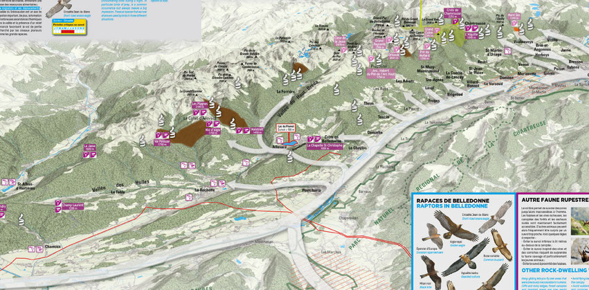 Les brises de vallée dans le massif des Bauges ainsi que les zones ascendante.