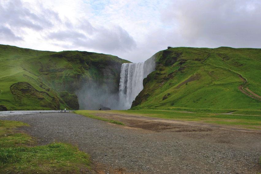Wasserfall Europa Skogarfoss Island