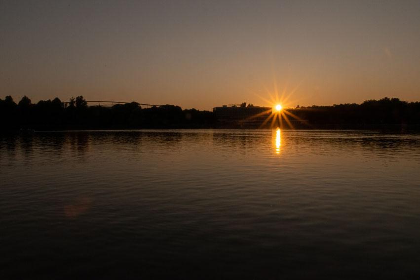 Sonnenuntergang Maschsee Hannover