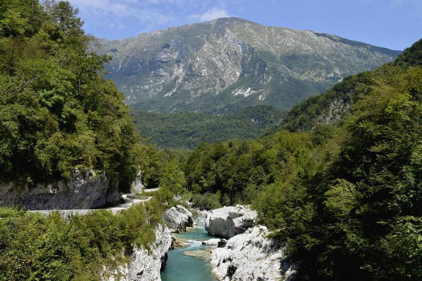 Roadtrip Slowenien Napoleon-Brücke Kobarid