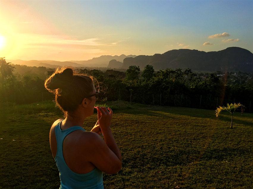 Sonnenuntergang Mojito Viñales