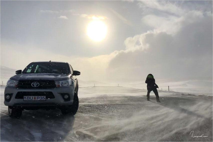 Roadtrip Island im Winter