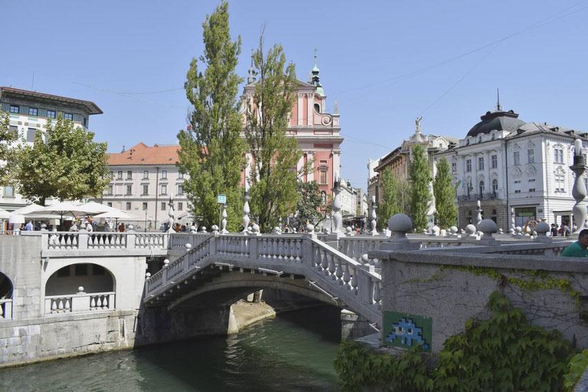 Ljubljana die drei Brücken