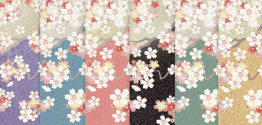 「小桜色模様」