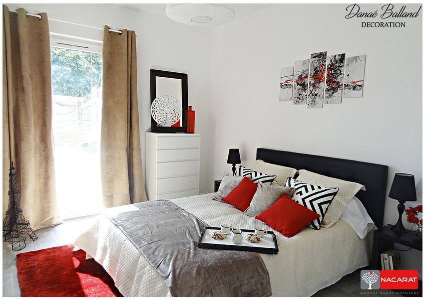 Décoration appartement témoin T2 programme neuf
