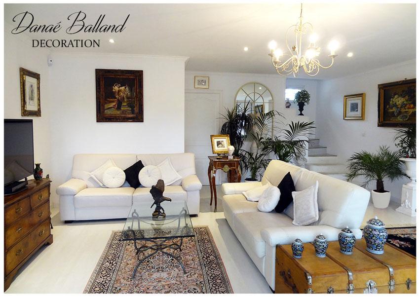 Séjour classique Danaé Balland décoration