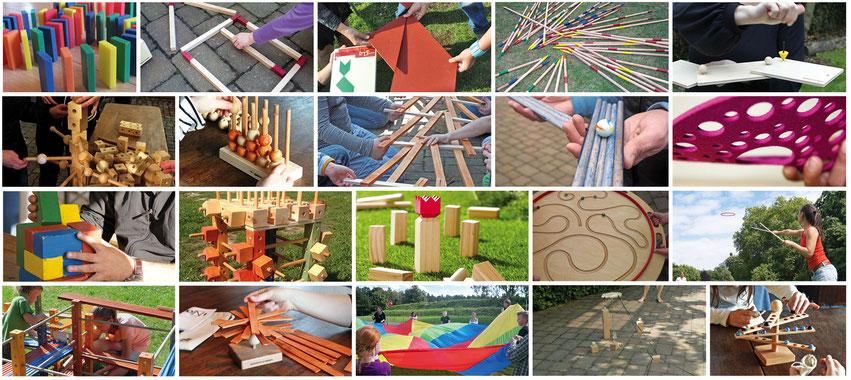spielend erleben Spiele mieten Mietspiele Holzspielzeug