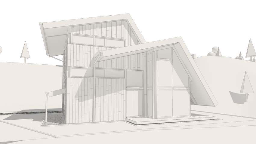 HOUSE-WB Clay-Rendering
