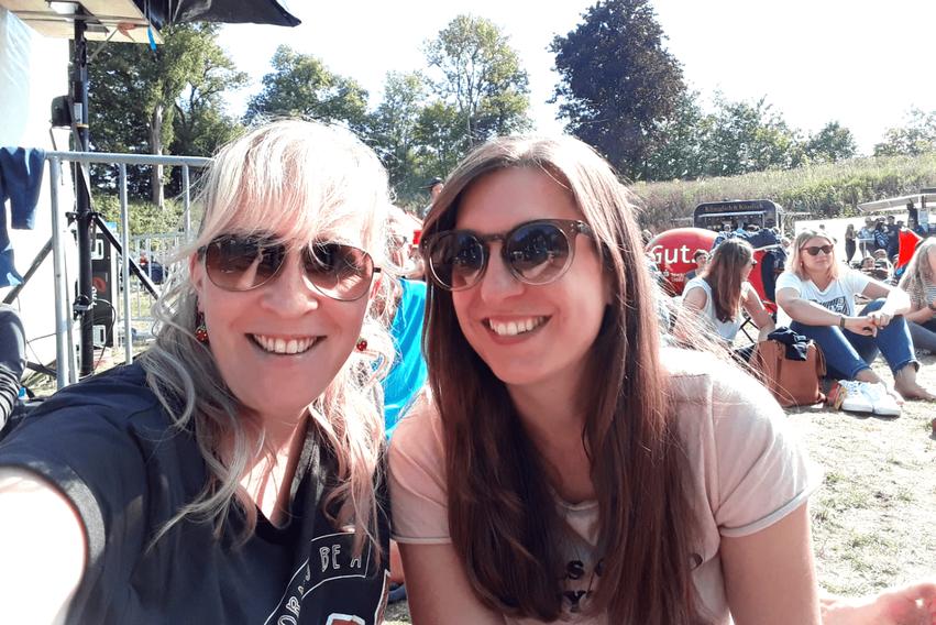 Selfie Müssen alle mit Festival in Stade