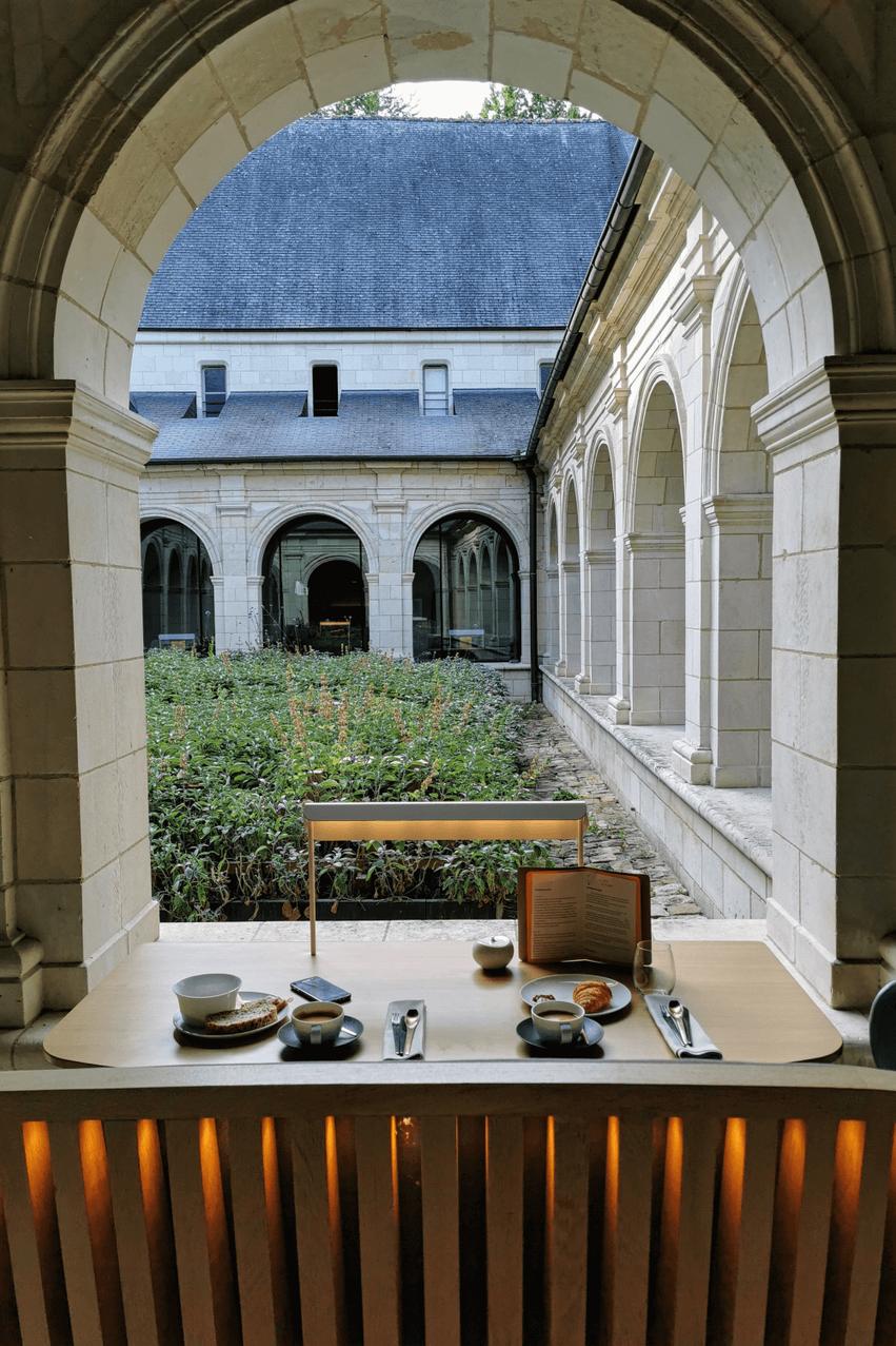 Abtei Fontevraud Frühstück