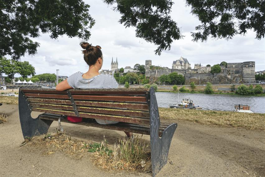 Loire Tal Angers Aussicht aufs Schloss