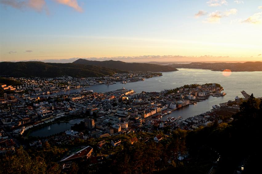 Sonnenuntergang Berg Fløyen