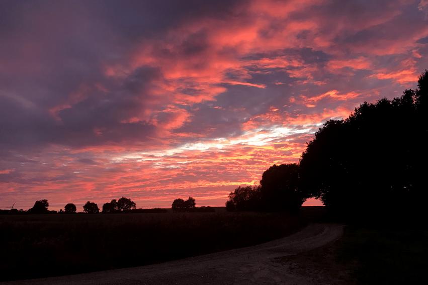 Sonnenuntergang Guttau Ostsee