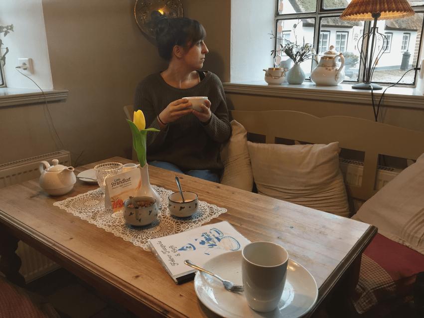 Tee trinken auf der Insel Föhr