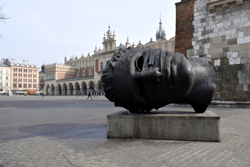Skulptur Marktplatz Krakau