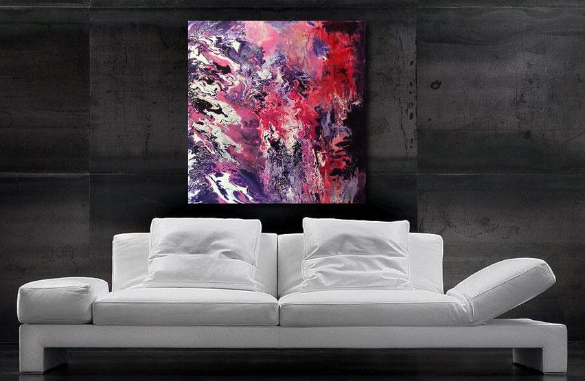 """Wandbild XXL """"Galaxy"""" 100 x 100 cm"""