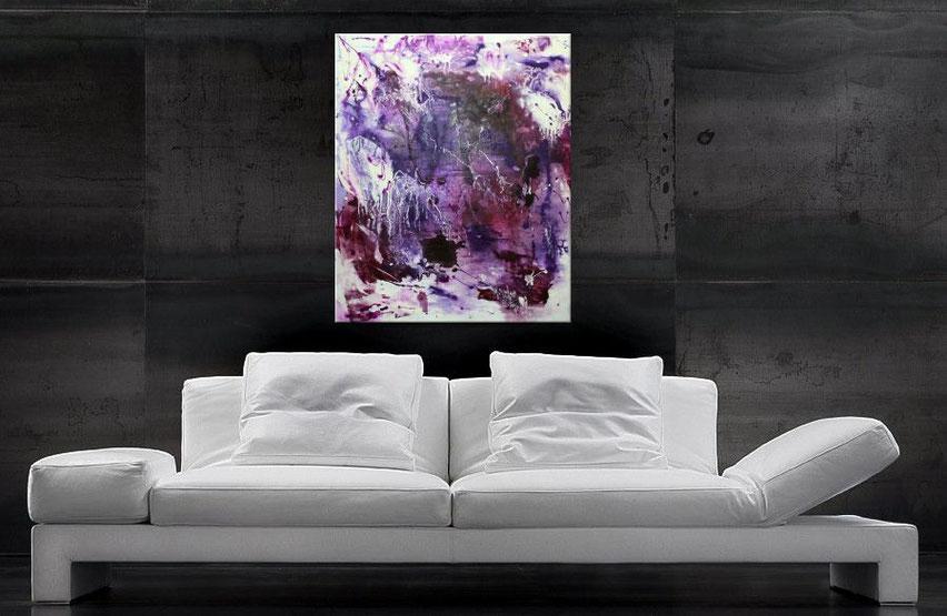 modernes acrylbild in purple