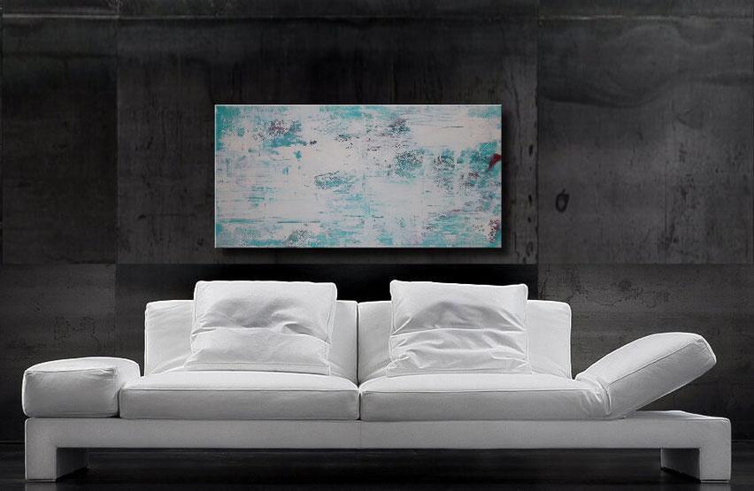 abstraktes acrylbild 70 x 50 cm