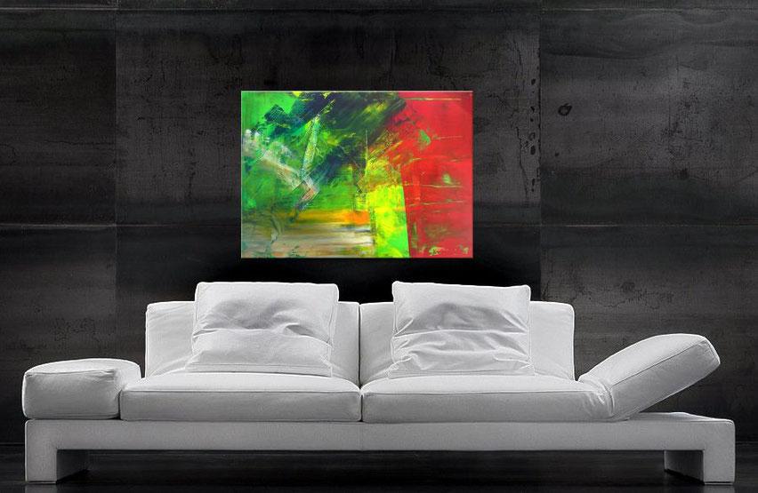 modernes abstraktes wandbild 80 x 60 cm