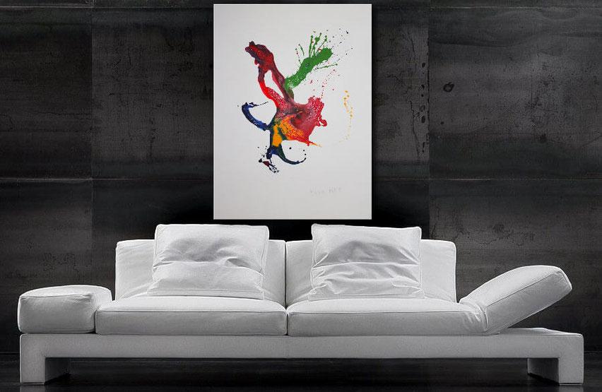 Rote Farbspritzer-Wandbilder kaufen