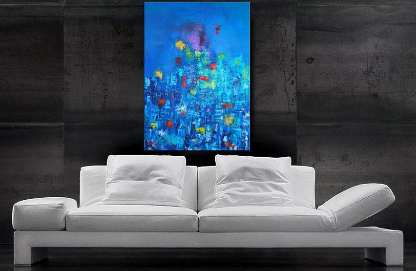 """Wandbild XXL """"Impression"""" 120 x 90 cm"""
