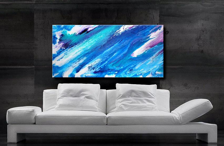"Wandbild XXl ""Ocean"" 120 x 60 cm"