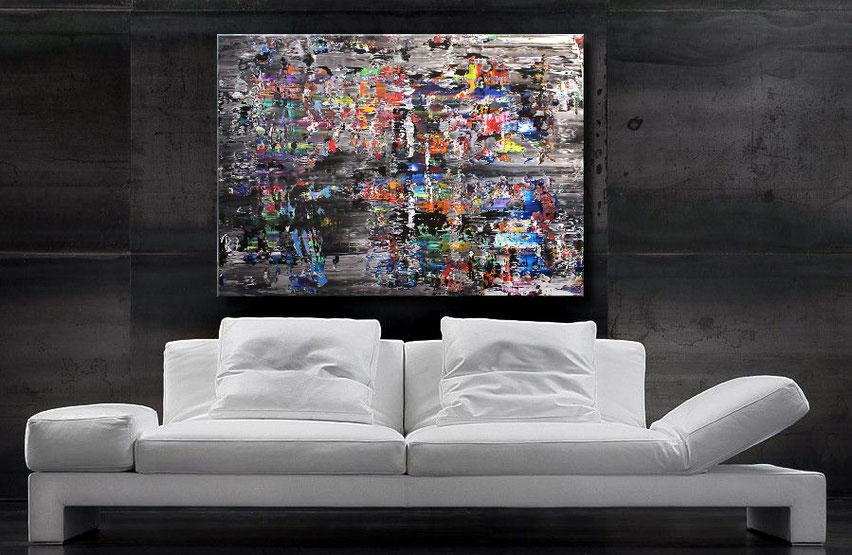 "Wandbild XXL ""Interferenz"" 120 x 90 cm"