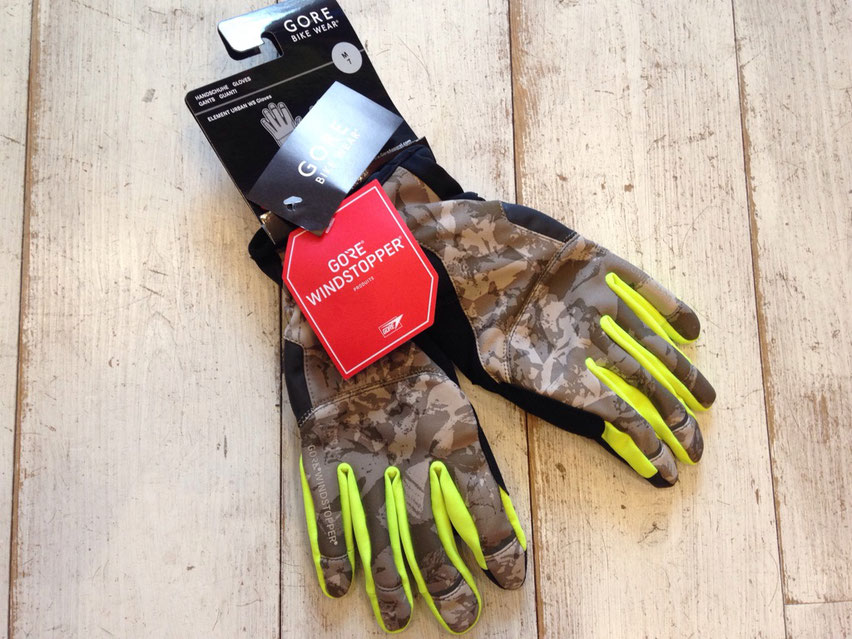 GORE BIKE WEAR(ゴア バイクウェアー)ELEMENT URABAN PRINT WS Gloves ¥9,720(税込)