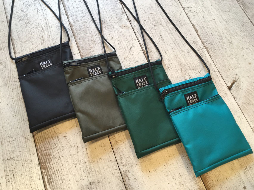 HALF TRACK PRODUCTS(ハーフトラックプロダクツ)ISKW POUCH 各¥5,184(税込)