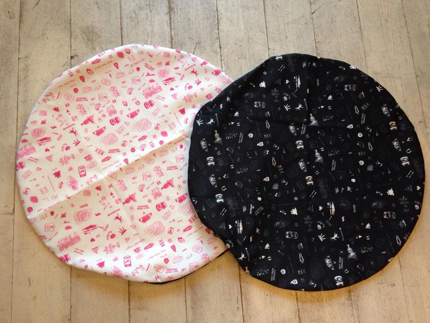 HALF TRACK PRODUCTS(ハーフトラックプロダクツ)nonsleep cushion(U.H ver) 各¥8,640(税込)
