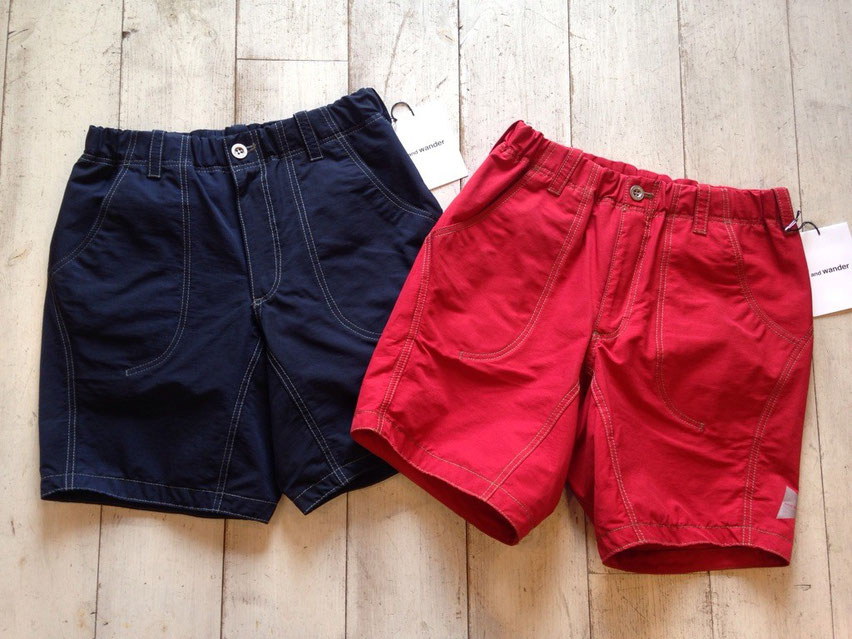and wander(アンドワンダー)60/40 cloth short pants 各¥20,000(+TAX)
