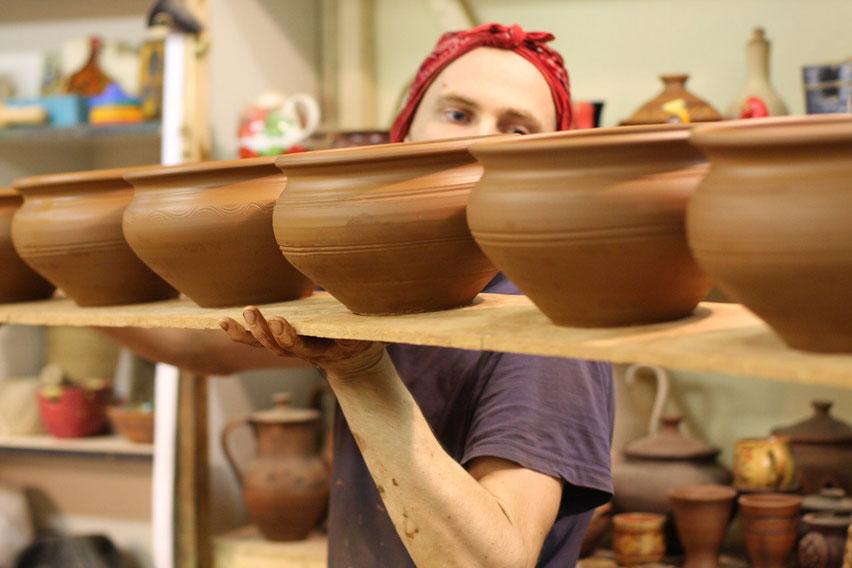 глиняная посуда купить , производство глиняной посуды